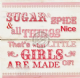 Sugar and Spice & all things Nice That's what little girls are made of! Wooden Wall sign/art christening gift baby
